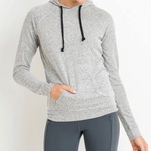 Gray Hoodie Pullover Silky Soft
